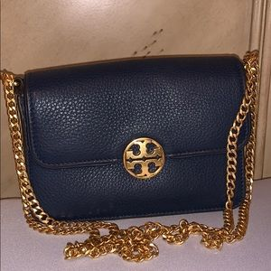 Tory Burch Navy Blue Mini Chelsea Bag